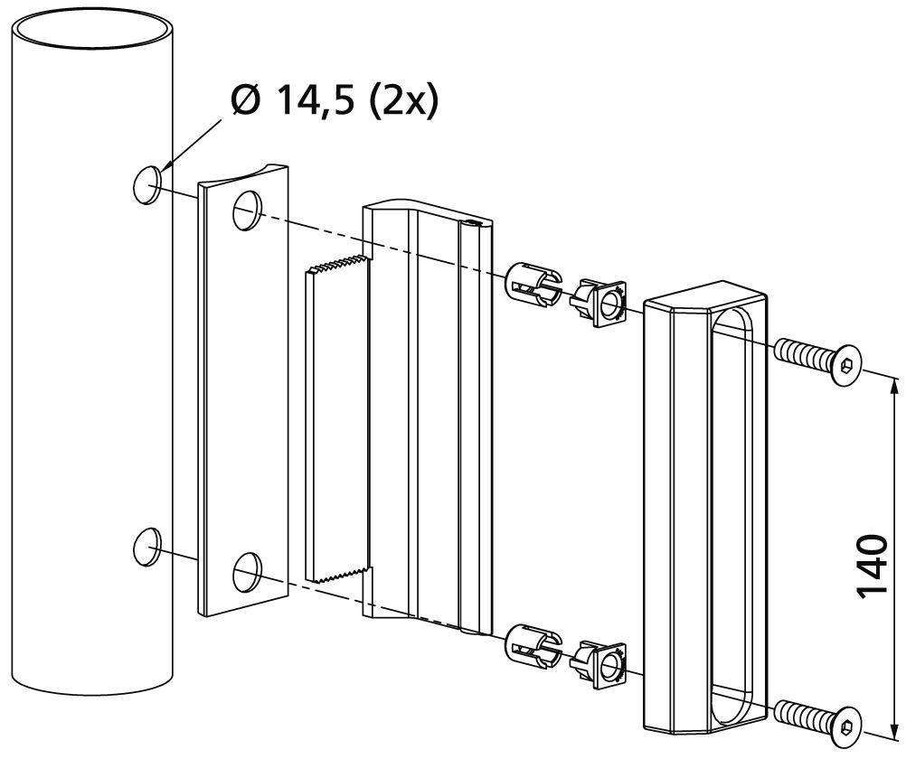 Schliesskasten-Set flach