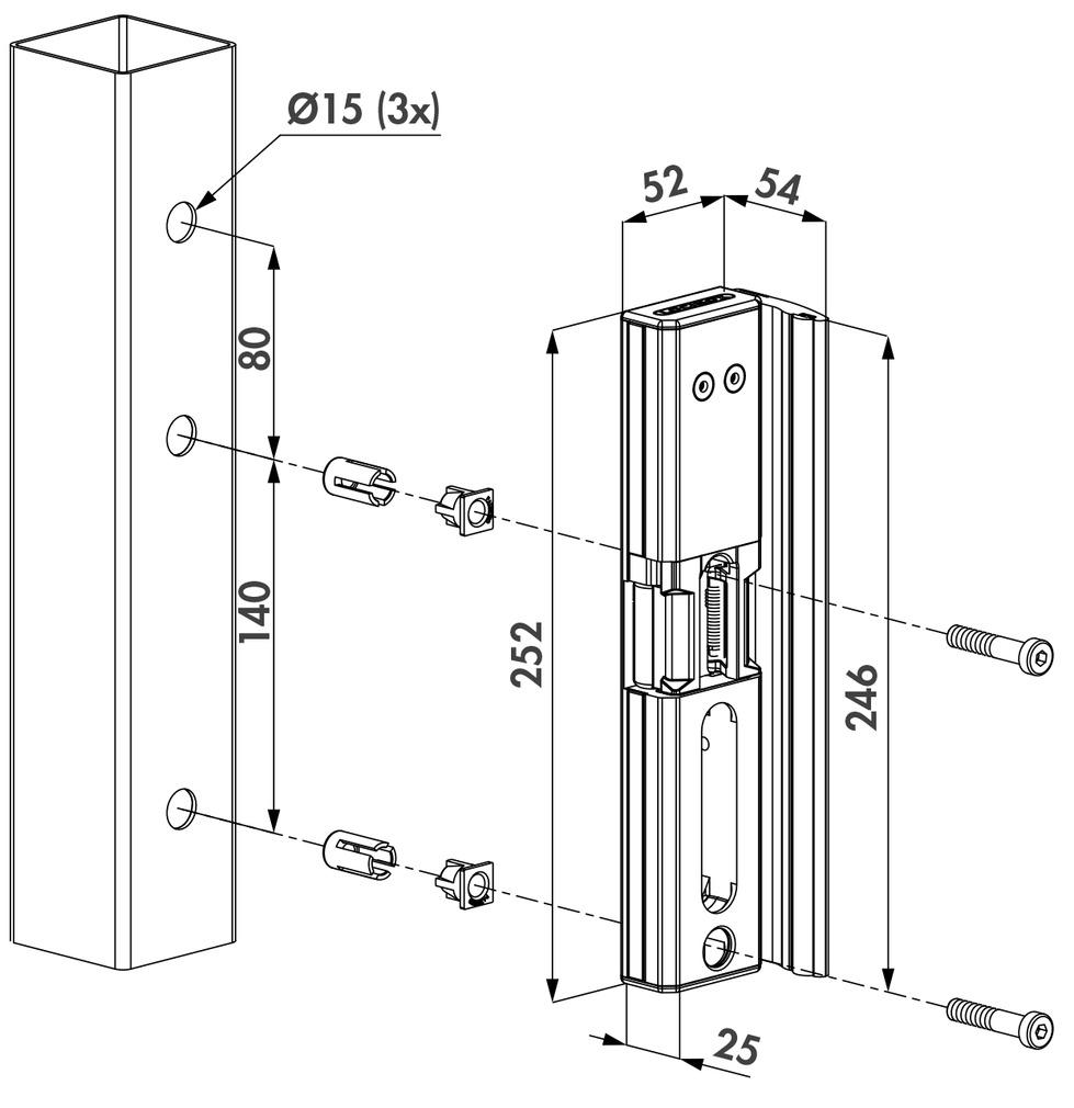 Anschlag-E-Öffner LOCINOX MODULEC-SA-E