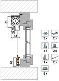 Zubehörset 4032 für Montagevariante 4151 FR4