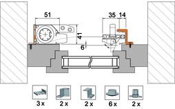 Zubehörset 4038 für Montagevariante 4151 TR4