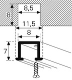 Vorhangschienen HAMOTEC VS 57 mit Mini-Laufnut HM-104