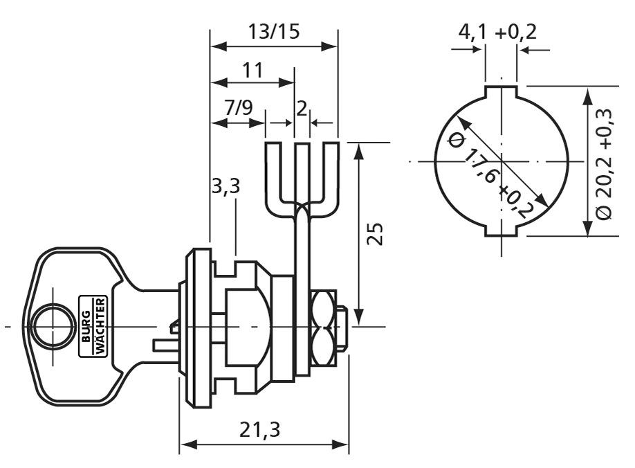 Universalzylinder ZS 81 BURG-WÄCHTER