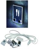 Schildhalter-Set mit LED-Licht