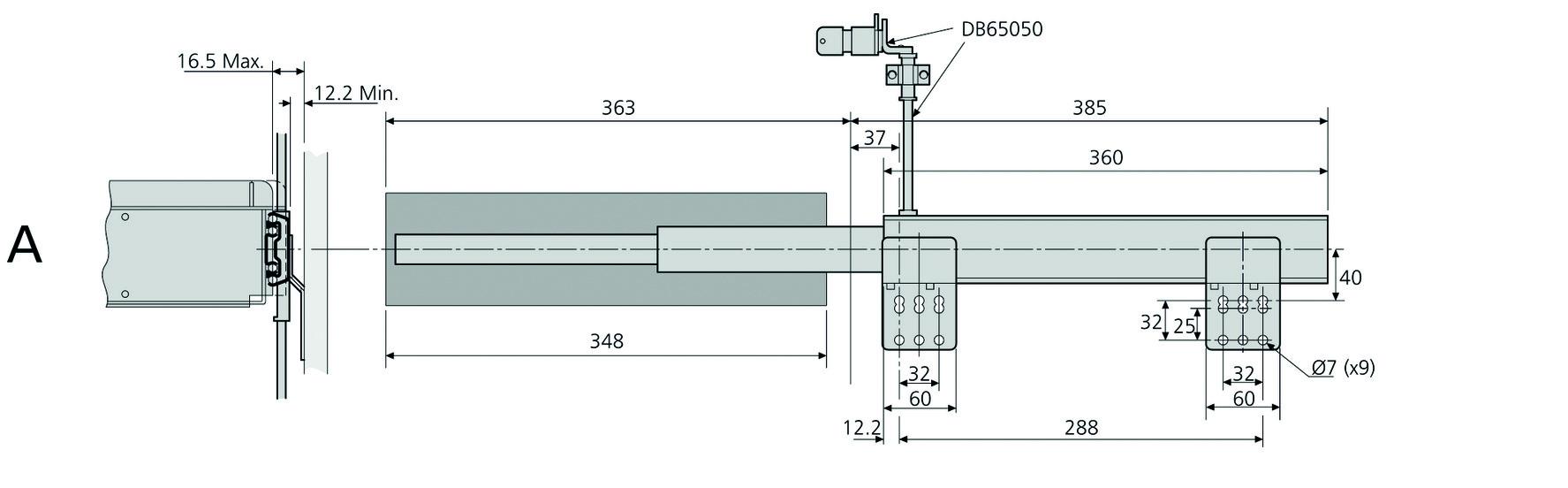Verschluss Bausatz schwarz ACCURIDE DB65050-1