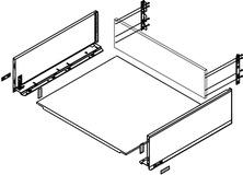 Komplett-Frontschubkasten-Set BLUM Legrabox pure C, seidenweiss
