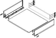 Komplett-Schubkasten-Set BLUM LEGRABOX pure K, seidenweiss