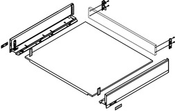 Komplett-Schubkasten-Set BLUM LEGRABOX pure M, seidenweiss