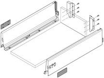 Komplett-Schubkasten-Set BLUM TANDEMBOX M, seidenweiss