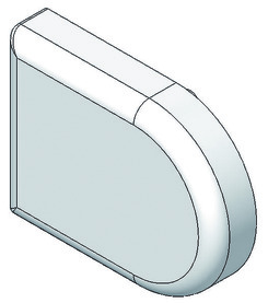 Abdeckkappe für Glastürscharnier BLUM 94 °