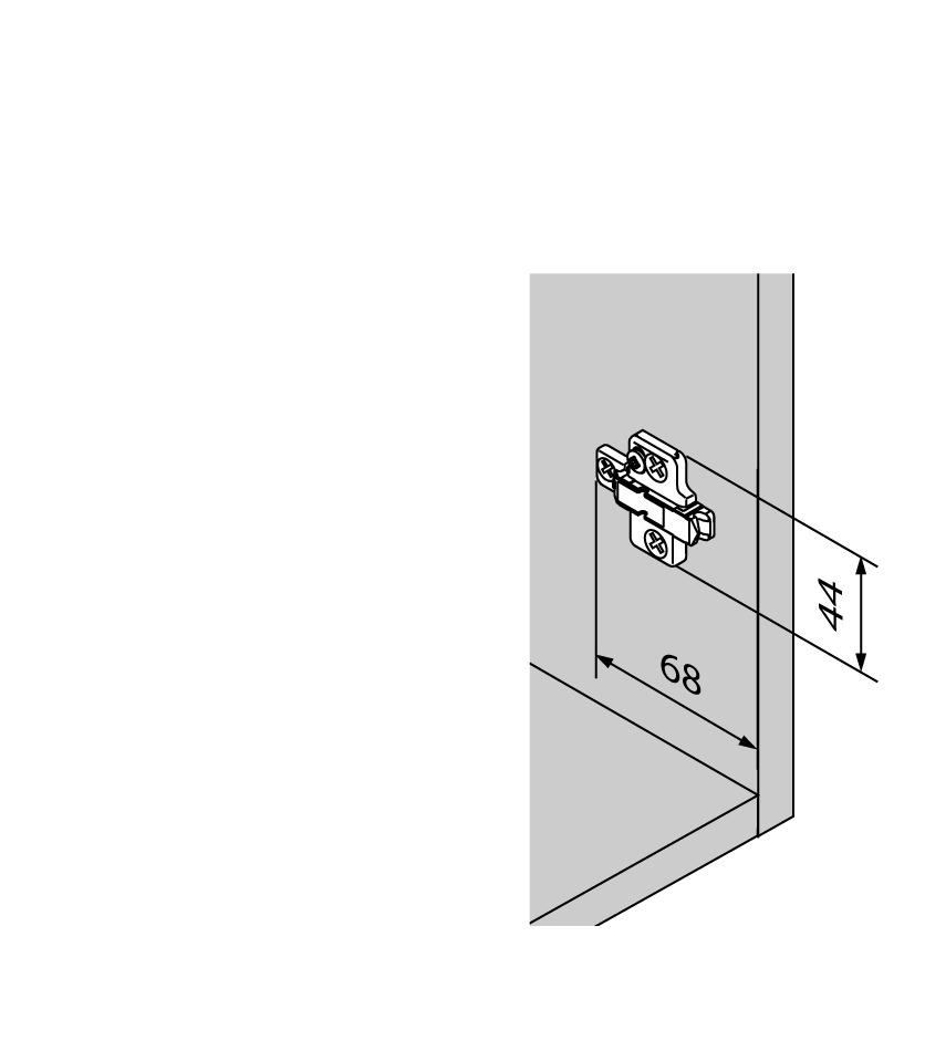 Kreuzmontageplatten BLUM CLIP Eckmontage
