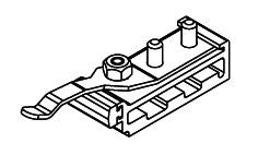 HAWA 10637 Schienenpuffer mit einstell. Rückhalterung (Junior 80)