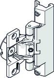 HAWA 22306 Topfscharnier m. Schliessfeder zu Holztüre, vernickelt