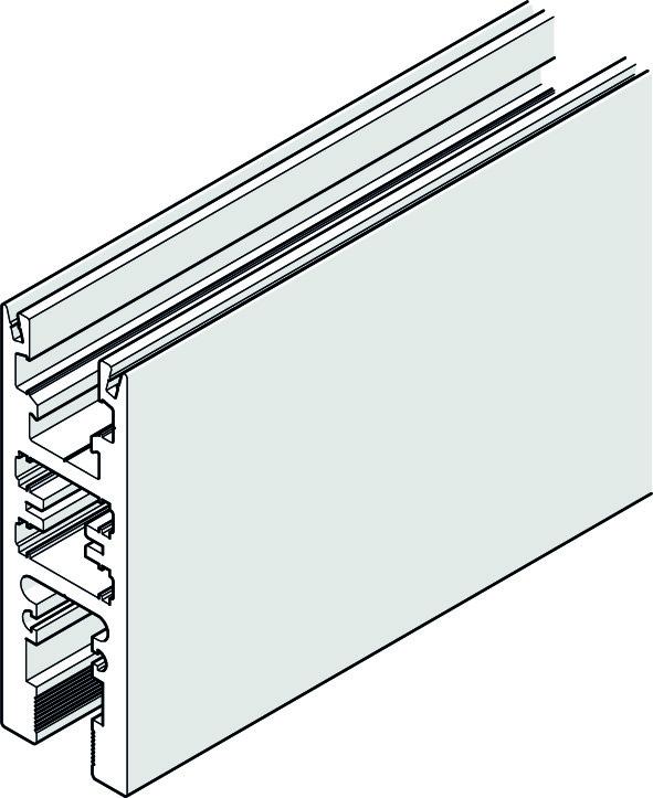 HAWA 25452 HAWA-Frontslide 140/matic-Symmetric 2, Teilgarnitur für 2 Schiebeläden