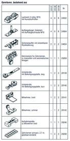 HAWA 25127 HAWA-Frontslide 100/A-Telescopic 2, Teilgarnitur für 2 Schiebeläden 600 - 1200 mm
