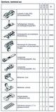 HAWA 25129 HAWA-Frontslide 100/A-Telescopic 4, Teilgarnitur für 4 Schiebeläden 600 - 1200 mm