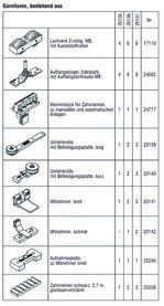 HAWA 25137 HAWA-Frontslide 60/matic-Telescopic 4, Garnitur für 4 Schiebeläden, 650 - 1200 mm