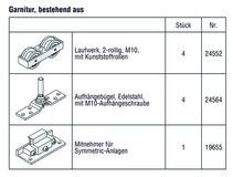 HAWA 25139 HAWA-Frontslide 100/matic-Symmetric 2, Teilgarnitur für 2 Schiebeläden