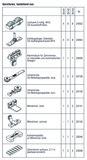 HAWA 25143 HAWA-Frontslide 100/ matic-Telescopic 4, Garnitur für 4 Schiebeläden, 650 - 1200 mm