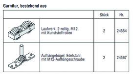 HAWA 25144 HAWA-Frontslide 140/matic, Teilgarnitur für 1 Schiebeladen