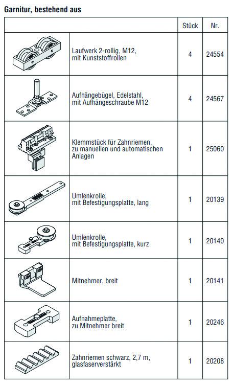HAWA 25145 HAWA-Frontslide 140/matic-Telescopic 2, Garnitur für 2 Schiebeläden, 750 - 1200 mm