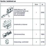 HAWA 25147 HAWA-Motronic 100 zu HAWA-Frontslide 100/matic, inkl. Steuerung, Zahnriemenschloss und Umlenkrolle