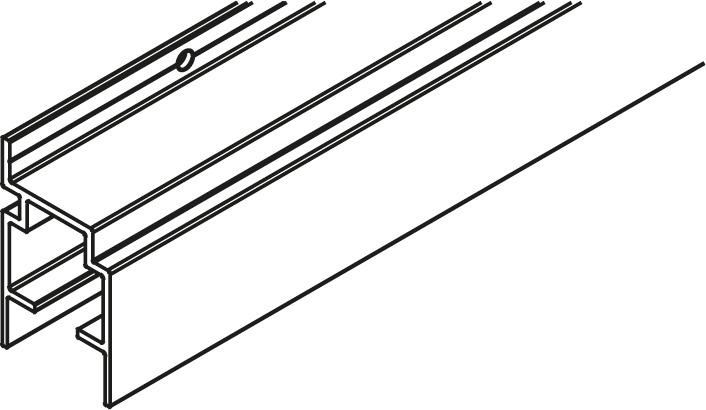 HAWA 27622 Laufschiene Frontfold 30 FS, Wandmontage, Aluminium, eloxiert, gelocht, nach Mass