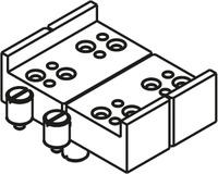 HAWA 27552 Bohrlehre für Scharnierband ø 5mm zum Nieten inkl. Gewindebolzen