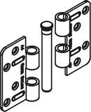 HAWA 27595 Scharnierband gekröpft, Spaltmass 6 mm, Edelstahl A4