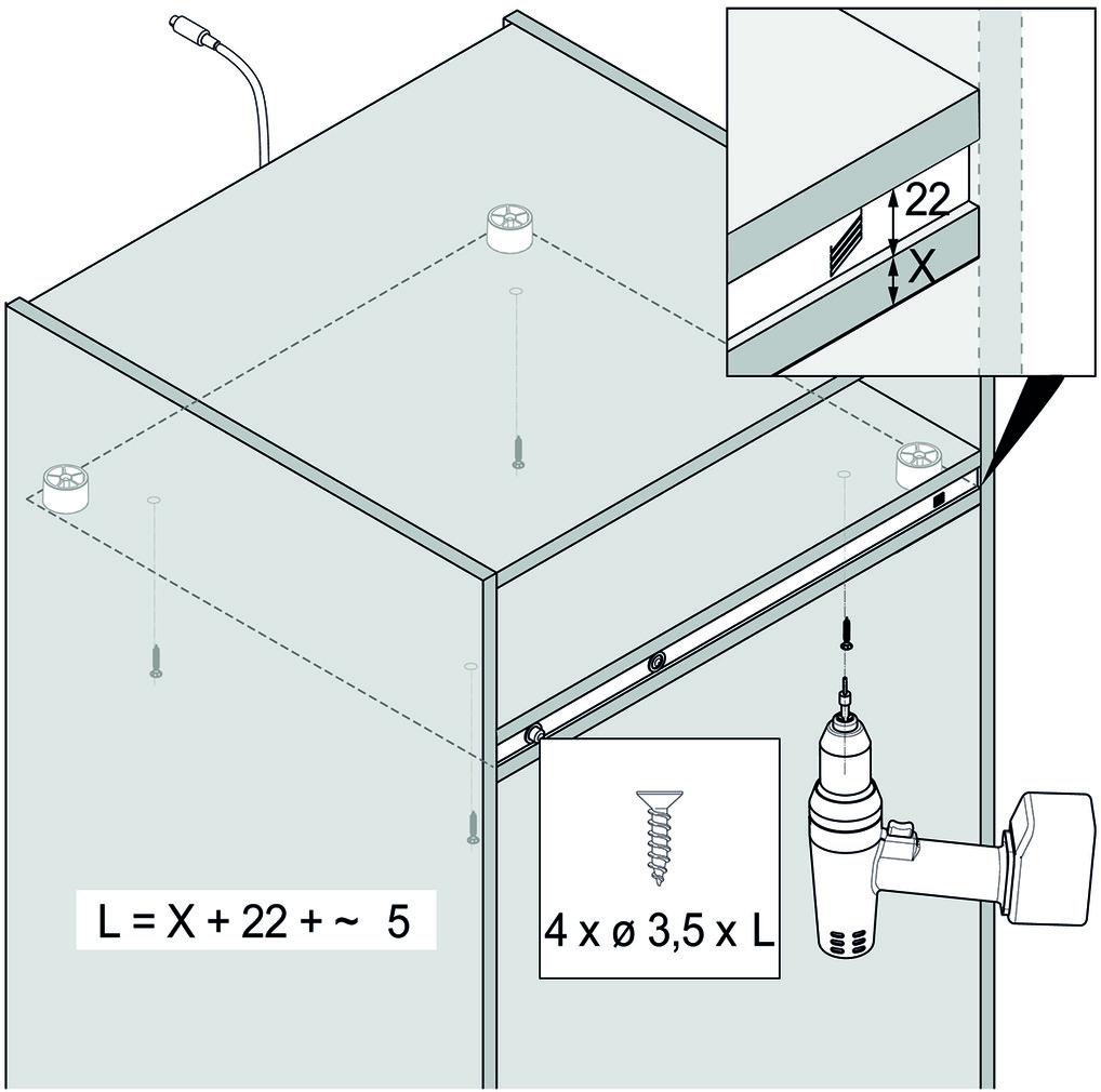 Griffloses Öffnungssystem für Kühlschränke HETTICH Easys