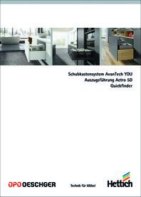 Katalog HETTICH AvanTech YOU / Actro 5D / Quickfinder