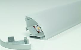 LED Aufbauprofile L&S Mini Corner mit opaler Abdeckprofil