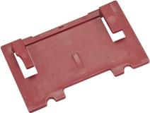 LAMELLO Art. 253026 Aufsteckplatte 4mm, KS, rot, zu Zeta, Top 21, Classic X